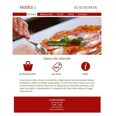 Création site web pizzeria