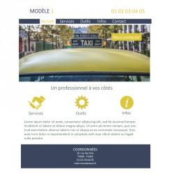 Création site web 5 pages chauffeur de taxi