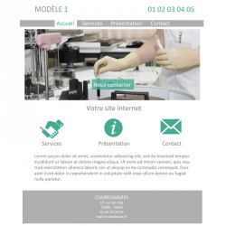 Création site web laboratoire d'analyses