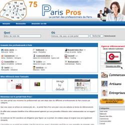 Page perso dans l'annuaire Paris Pros