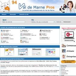 Page perso dans l'annuaire Val de Marne Pros