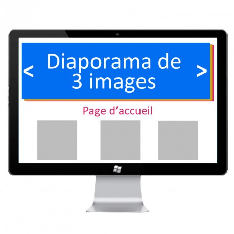 Slider 3 images page d'accueil
