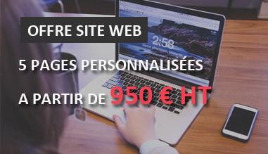 Offre création de site web pas cher